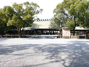Kusanagi - Atsuta Shrine in Nagoya dates back to c. 100 CE during the reign of Emperor Keikō and houses the Kusanagi sword.
