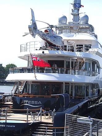 Dennis Washington - Washington's motor yacht Attessa IV