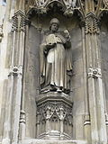 Augustine of Canterbury sculpture on Canterbury Cathedral.jpg