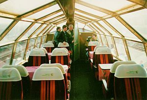 Rheingold (train) - Interior of a preserved ex-Rheingold dome car.