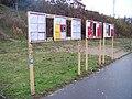 Autobusová zastávka Lihovar, jízdní řády.jpg