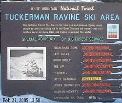 United States Forest Service avalanche danger advisories.