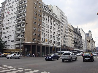 Avenida Belgrano - Intersection with Paseo Colon avenue.