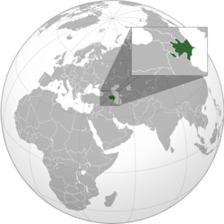 Location of Azerbaijan.