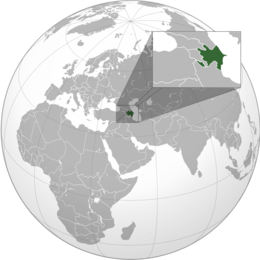 Azerbaigian - Localizzazione