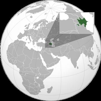 Location of Azerbaijan