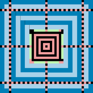 Aztec Code - 6-layer (41×41) Aztec code showing reference grid.