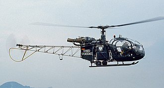 Aérospatiale Alouette II - A West German Alouette II helicopter patrolling the border with East Germany, 1985