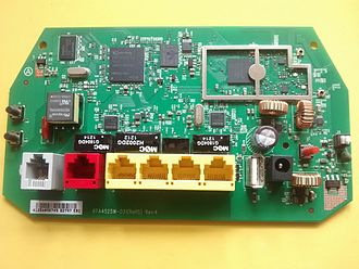 BT Smart Hub - A picture of the rear of the circuit board from a BT Home Hub 3.0 Type A