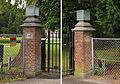 Baarn, Rusthoek pijlers oostelijk inrijhek 1905 RM511680.jpg