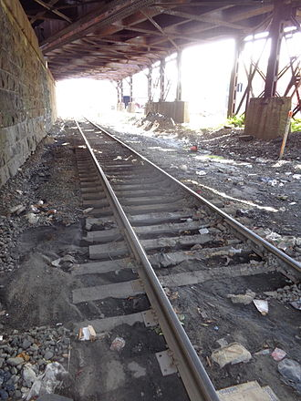 Northern Branch - Northern Branch passes under the River Line at Babbitt, North Bergen