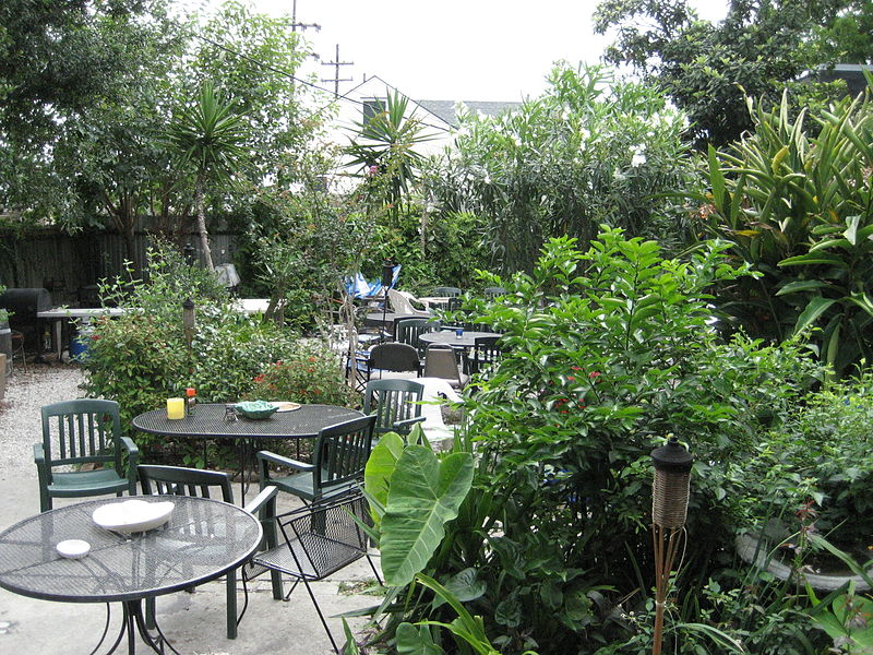 The patio at Bacchanal