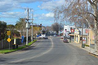 Bacchus Marsh Town in Victoria, Australia