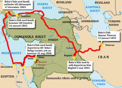 osmanska riket karta Bahaullah – Wikipedia osmanska riket karta