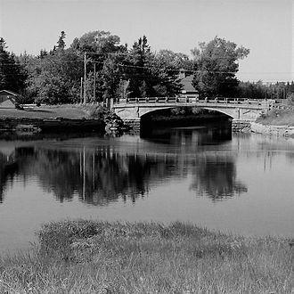 Port Elgin, New Brunswick - Bridge across the Gaspereau River in Port Elgin, New Brunswick