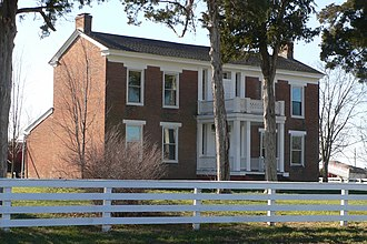 National Register of Historic Places listings in Montgomery County, Missouri - Image: Baker Plantation House (Danville, MO) 3