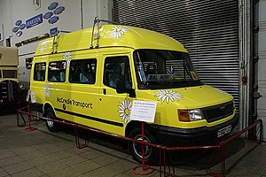 Balamory - Edie McCredie's bus (LDV Convoy) in the Glasgow Museum of Transport