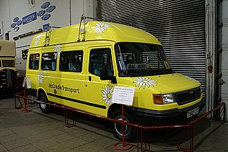 Balamory - Edie McCredie's bus (LDV Convoy) in the Glasgow Museum of Transport