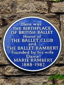 Ballet rambert blue plaque