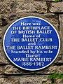 Ballet Rambert blue plaque.jpg