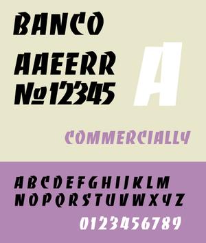 Banco (typeface) - Image: Banco Specimen