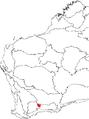 Banksia viscida map.png