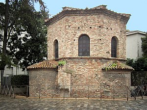 Arius - The Arian Baptistry erected by Ostrogothic king Theodoric the Great in Ravenna, Italy, around 500