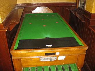 Bar billiards - A Bar billiards table.