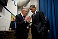 Barack Obama talks with Senate Majority Leader Harry Reid (D-Nev.), 2010.jpg