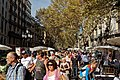 Barcelona - Rambla de Santa Mònica - View NNW on Spanish National Holiday 'Pilar' 12 October.jpg