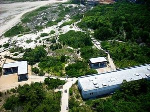 Barnegat Lighthouse - The Barnegat Light Interpretive Center, as seen from above