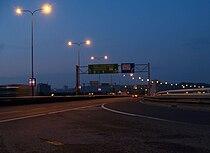 Barrandovský most, od vyústění strakonické rampy.jpg