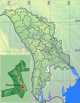 Basarabeasca District - Image: Basarabeasca location blank map