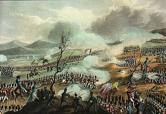 Battle of Nivelle - Gravure of the battle