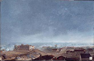 Giuseppe Pietro Bagetti - Battle of Fombio by Bagetti
