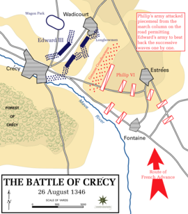 A map showing the positions of both sides during the battle