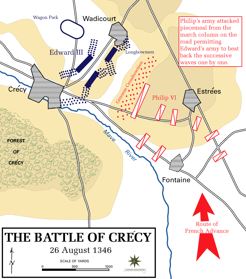 Battle of Crécy, 26 August 1346