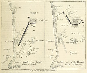 Battle of Laswari - A map of the two phases of the battle