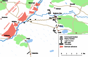 Battle of Wizna - Positions prior to the battle.