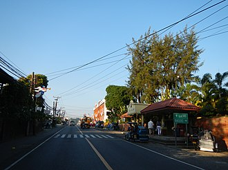 Bauang - Approaching the Bauang town center along the National Highway