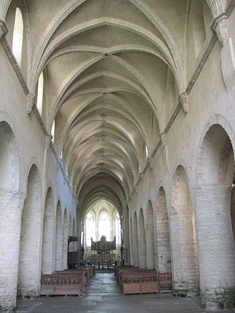 Baume Abbey - Nave of the abbey church