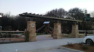 Little Elm, Texas - Entrance to Beard Park in Little Elm, Texas.