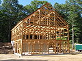 Beautiful Post and Beam Horse Barn.JPG