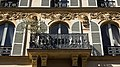 Beautifully detailed wrought-iron balcony (38298936264).jpg