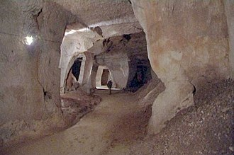 Beer Quarry Caves - The interior of Beer Stone Quarry