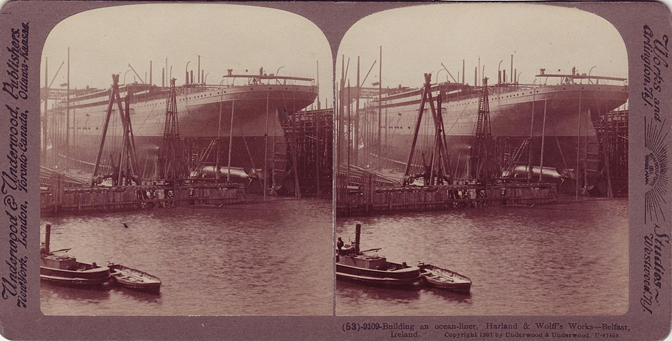 Belfast's Harland and Wolff Shipyard (RMS Adriatic), 1907
