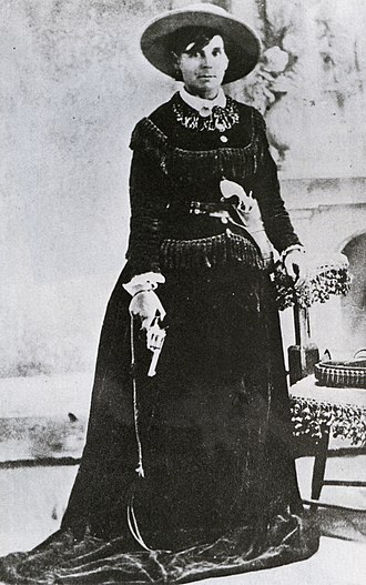 "Belle Starr - Studio portrait of Belle Starr, ""Queen of the Oklahoma Outlaws"""