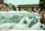 Bellows Falls postcard high flow