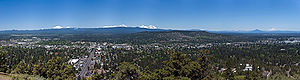Bend, Oregon - Looking west from Pilot Butte