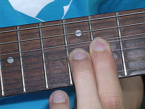 Finger vibrato - Example of bending on electric guitar